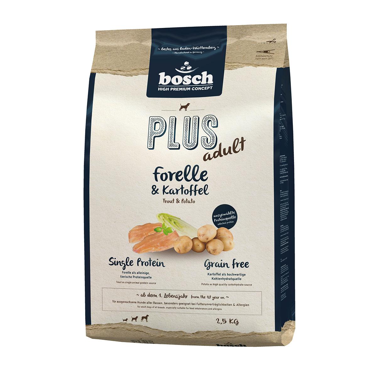 Bosch PLUS Hunde-Trockenfutter Forelle & Kartoffel 2,5kg
