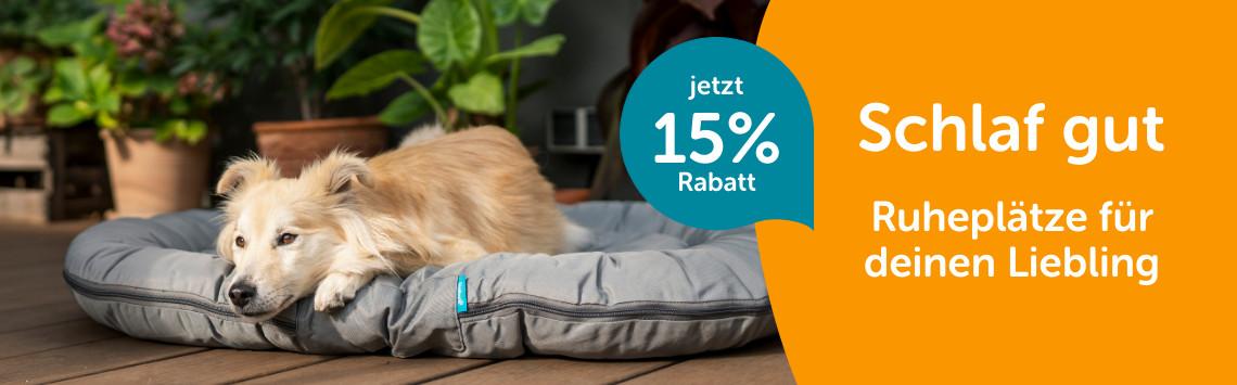 Hundeschlafplätze mit 15%