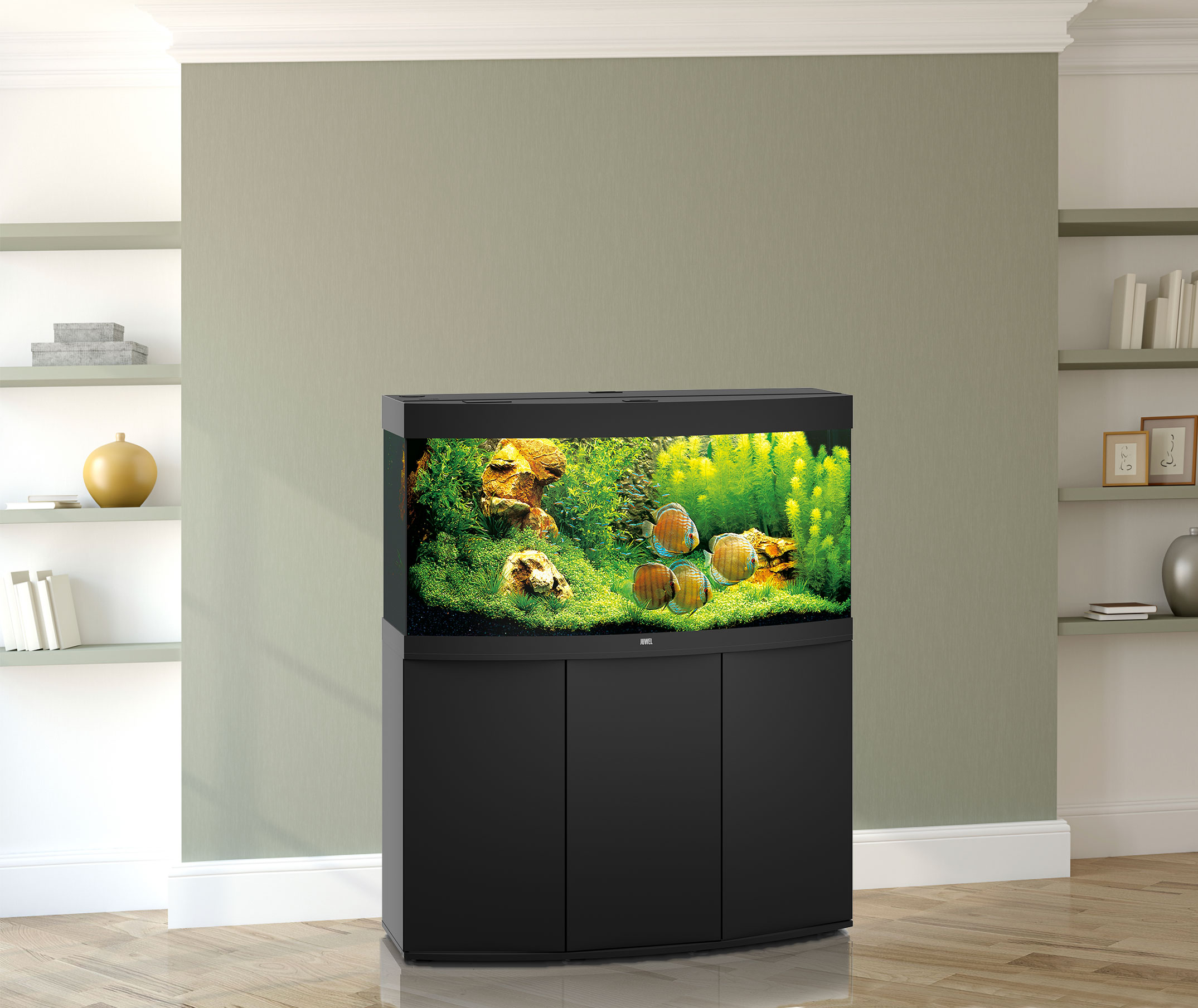 juwel aquarium vision 260 led mit unterschrank sbx bei zooroyal. Black Bedroom Furniture Sets. Home Design Ideas