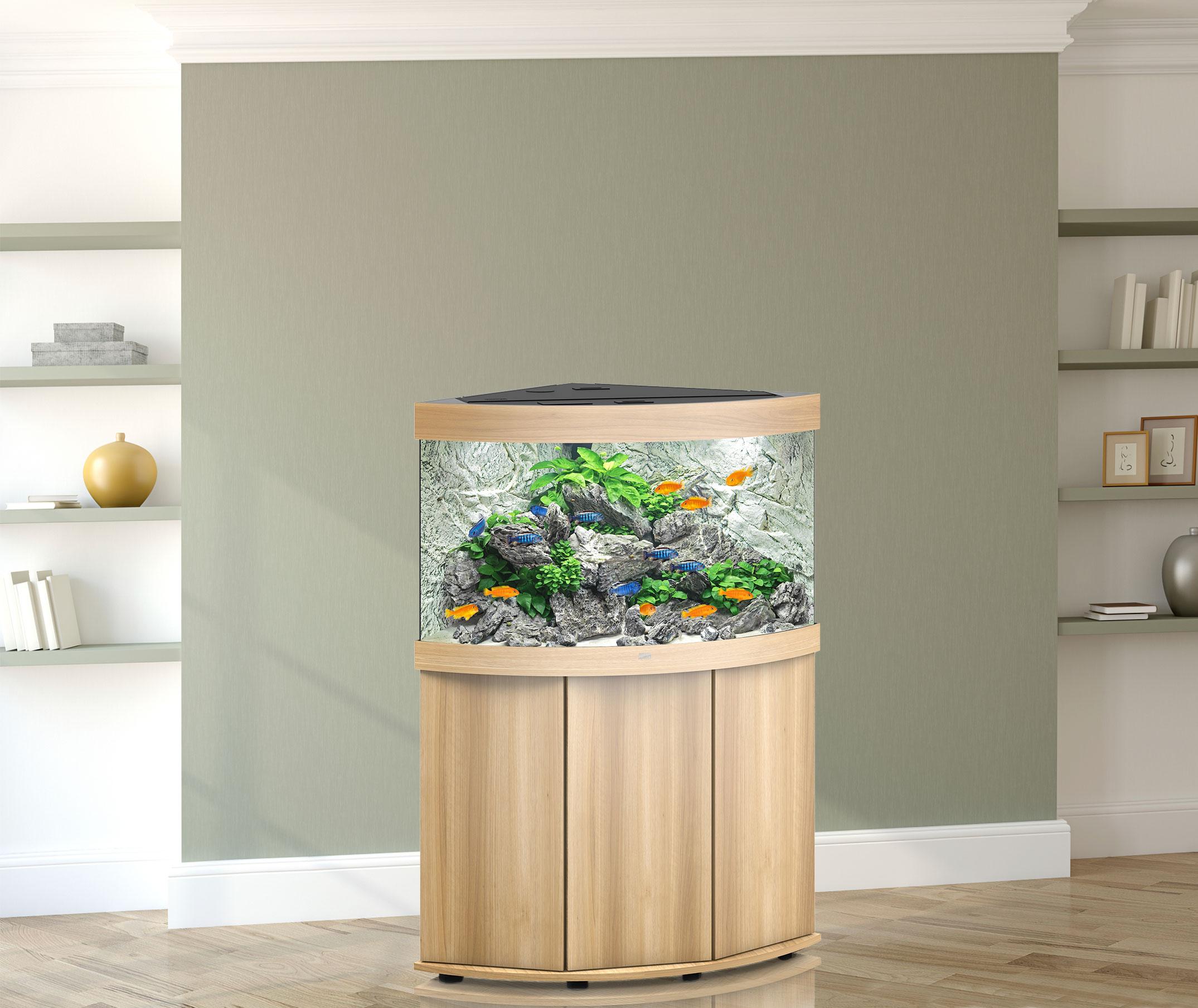Juwel Trigon 190 Aquarium mit Schrank - Einrichtungsbeispiel