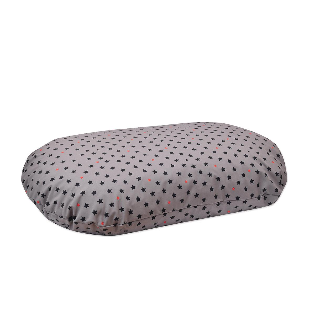 aum ller liegekissen softshell star grau f r hunde katzen. Black Bedroom Furniture Sets. Home Design Ideas