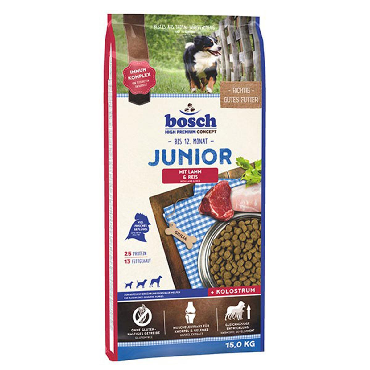 Bosch Hundefutter Junior Lamm & Reis 15kg