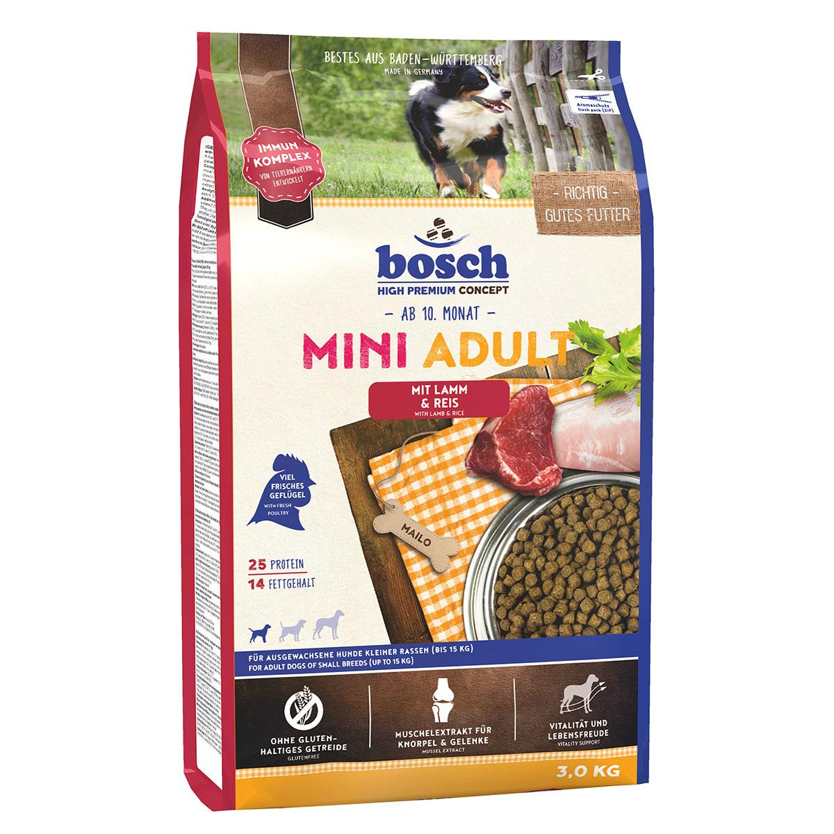 Bosch Hundefutter Mini Adult Lamm & Reis 3kg