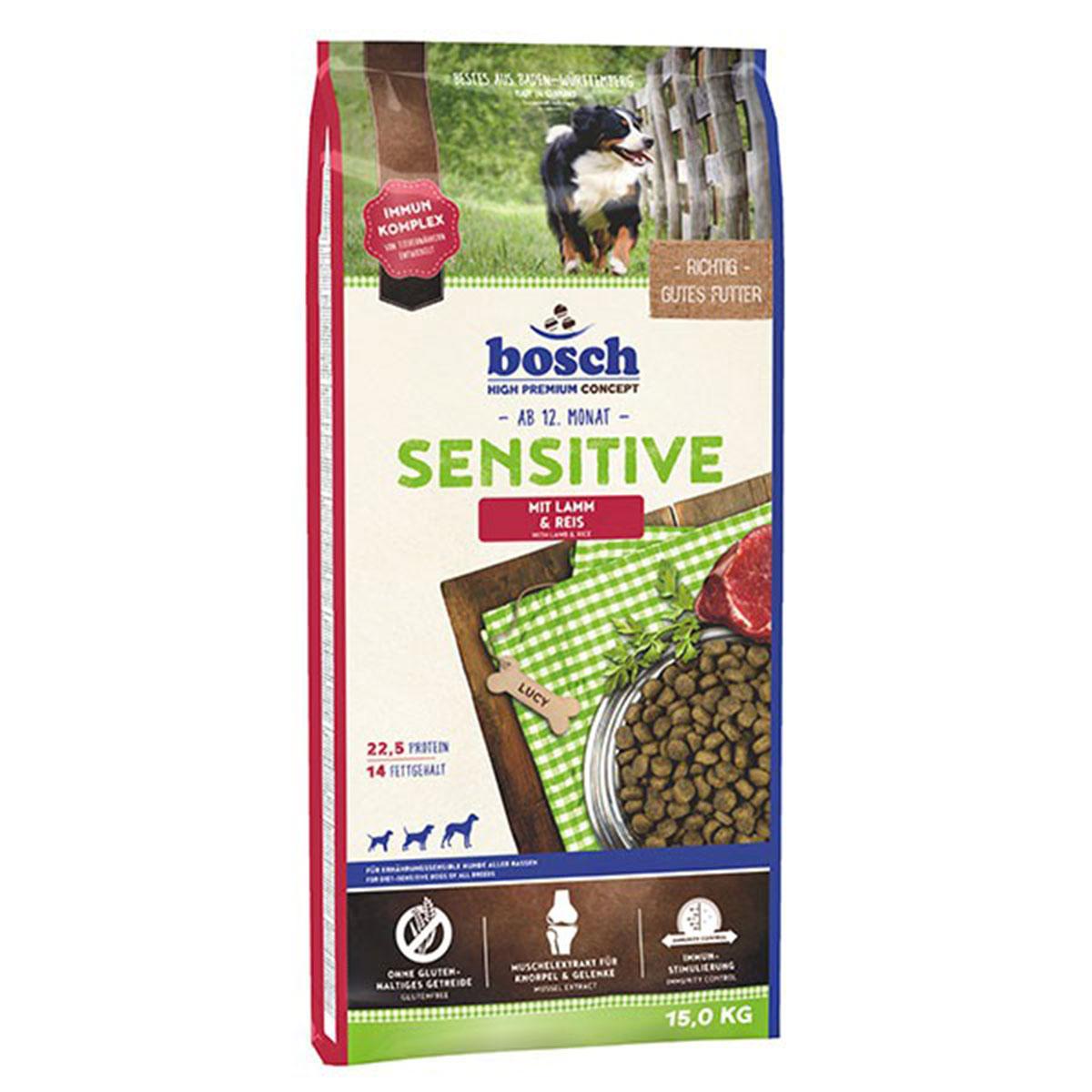Bosch Hundefutter Sensitive Lamm & Reis 15kg