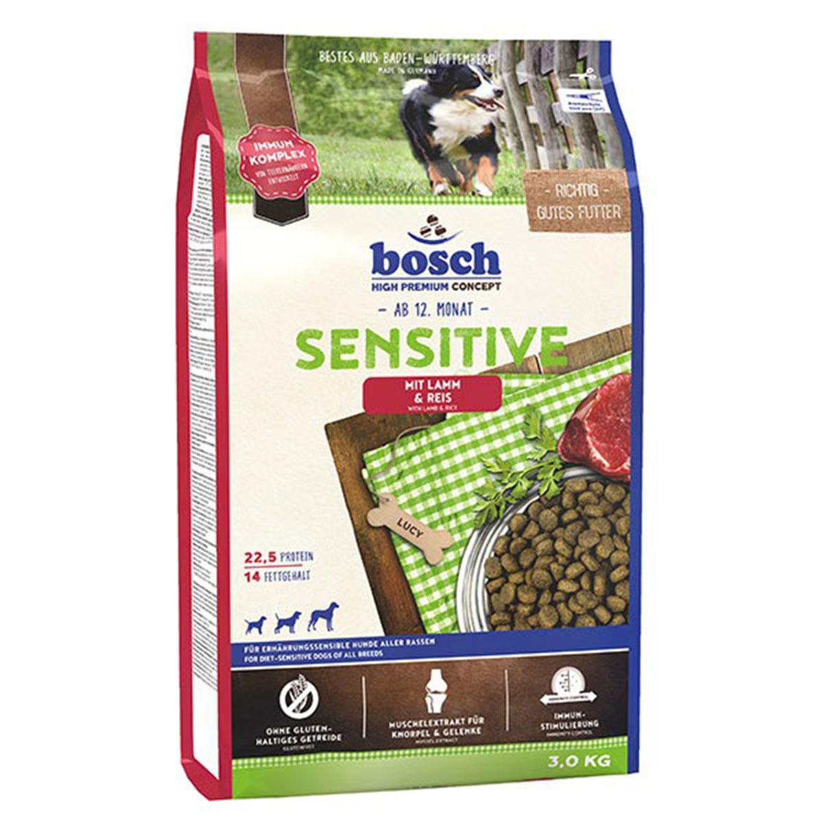 Bosch Hundefutter Sensitive Lamm & Reis 3kg