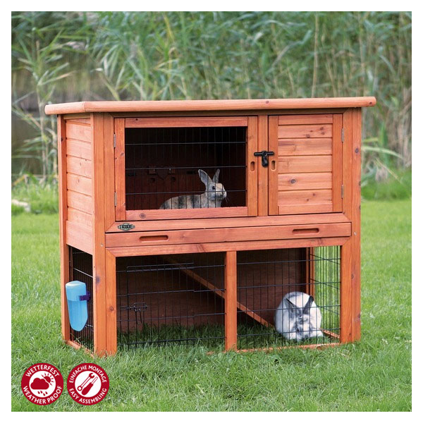 trixie natura kaninchenstall mit freigehege 104 bei zooroyal. Black Bedroom Furniture Sets. Home Design Ideas