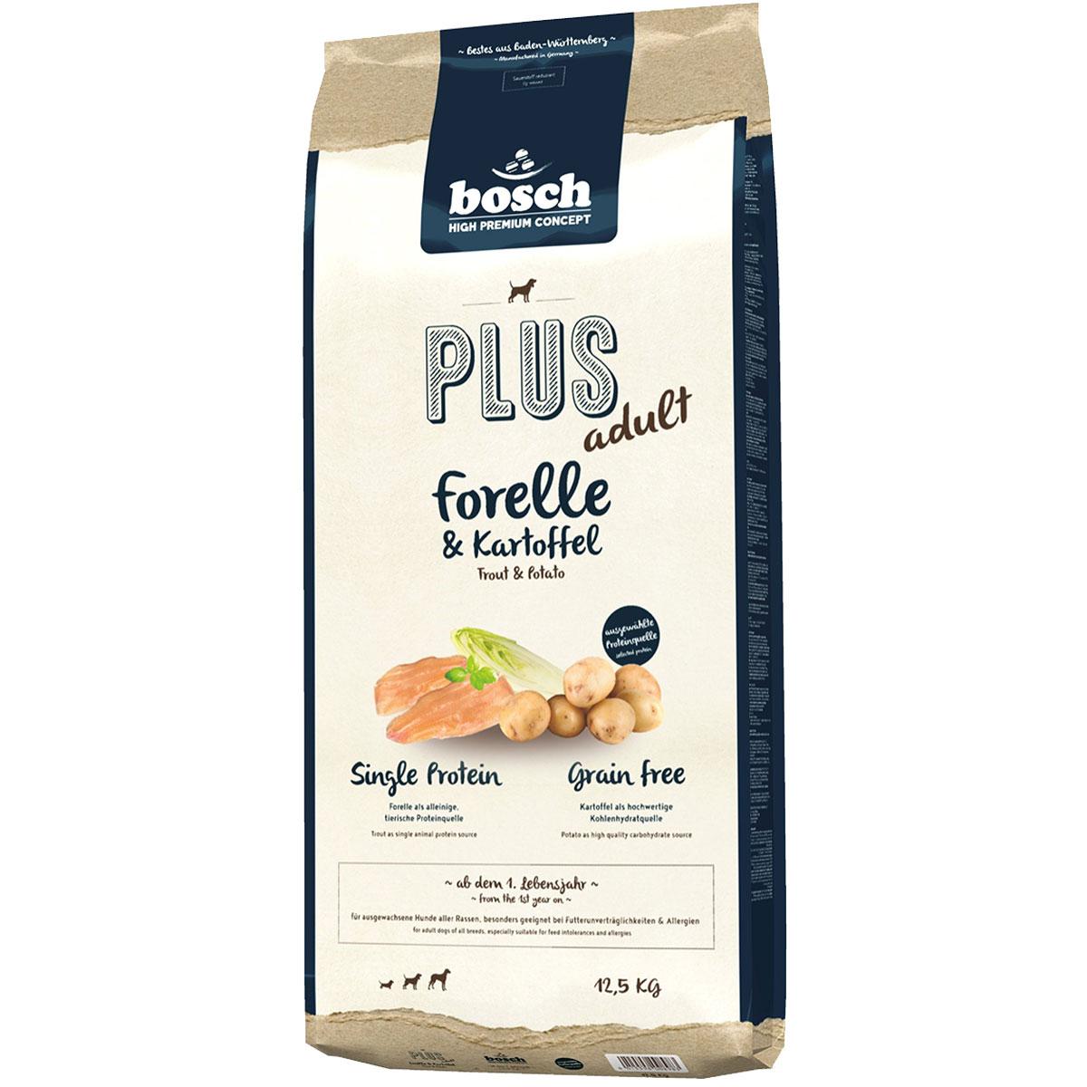 Bosch PLUS Hunde-Trockenfutter Forelle & Kartoffel 12,5kg