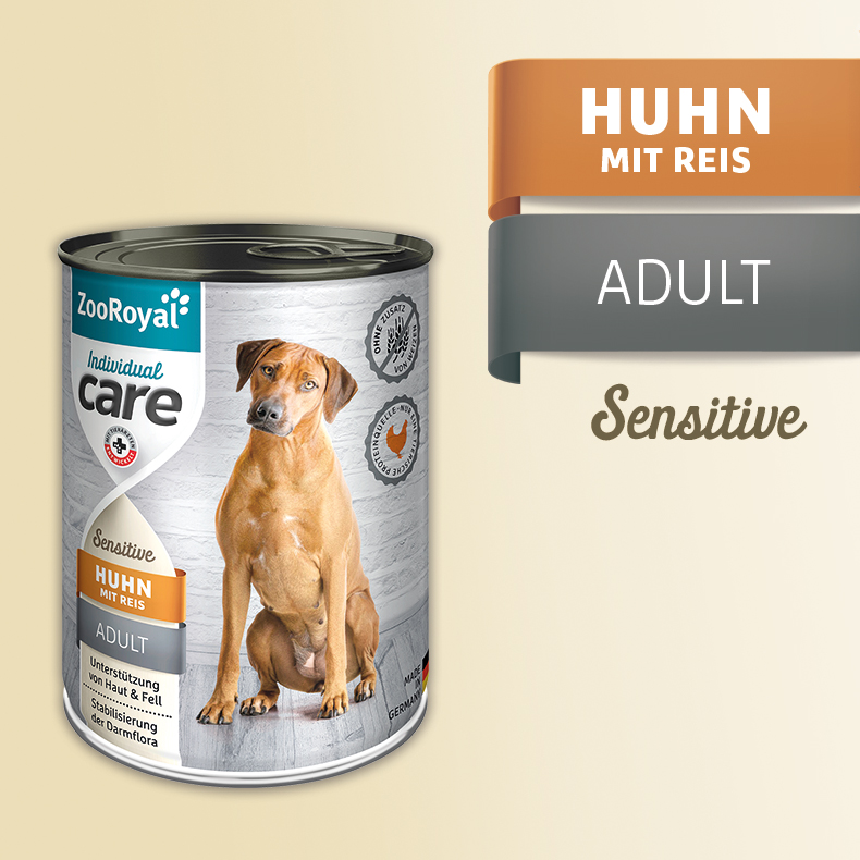 ZooRoyal Care Adult Sensitive Huhn mit Reis