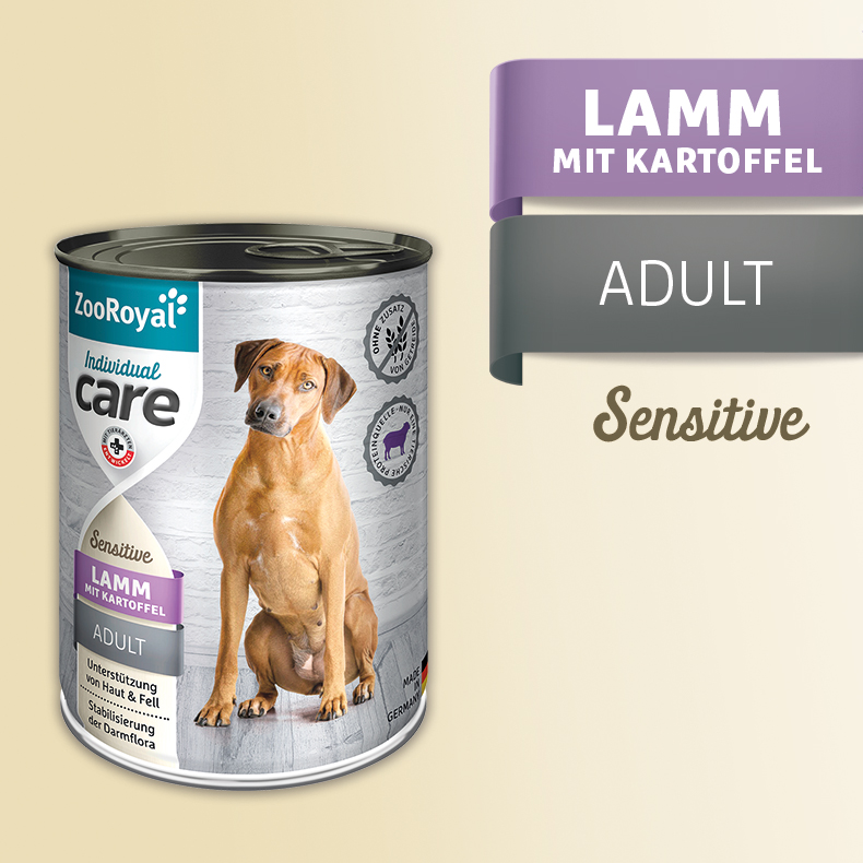 ZooRoyal Care Adult Sensitive Lamm mit Kartoffeln