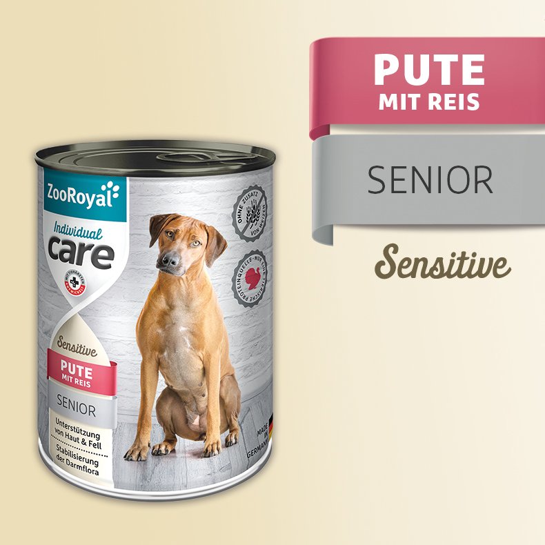 ZooRoyal Care Junior Sensitive Pute mit Reis