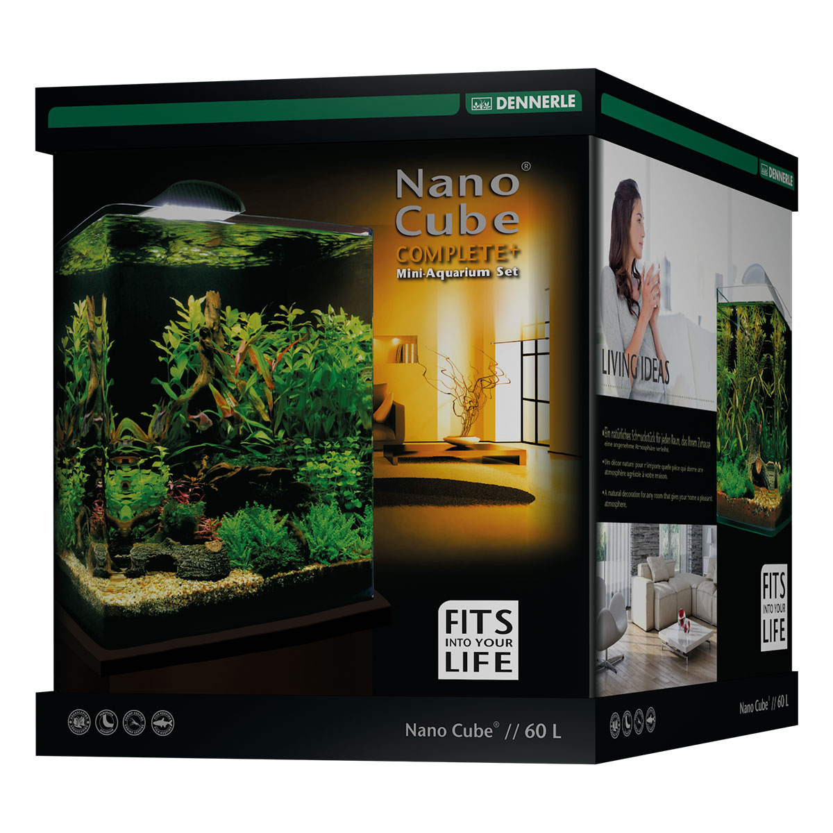 dennerle nanocube complete plus 60l aquarium set bei zooroyal. Black Bedroom Furniture Sets. Home Design Ideas
