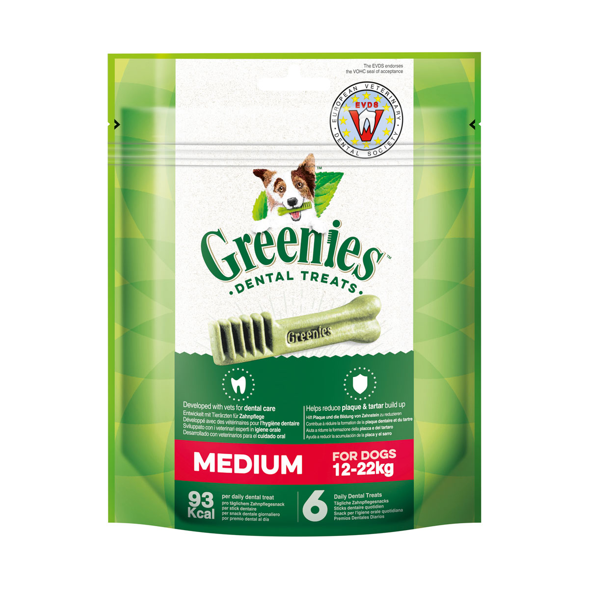 Greenies Medium Zahnpflegesnacks für Hunde von 11-22kg 170g