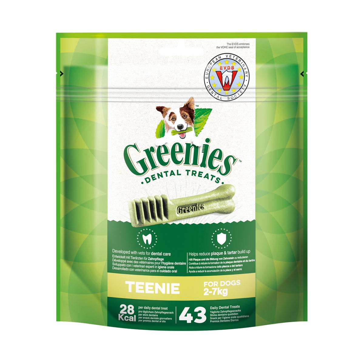 Greenies Teenie Zahnpflegesnacks für Hunde von 2-7kg 340g
