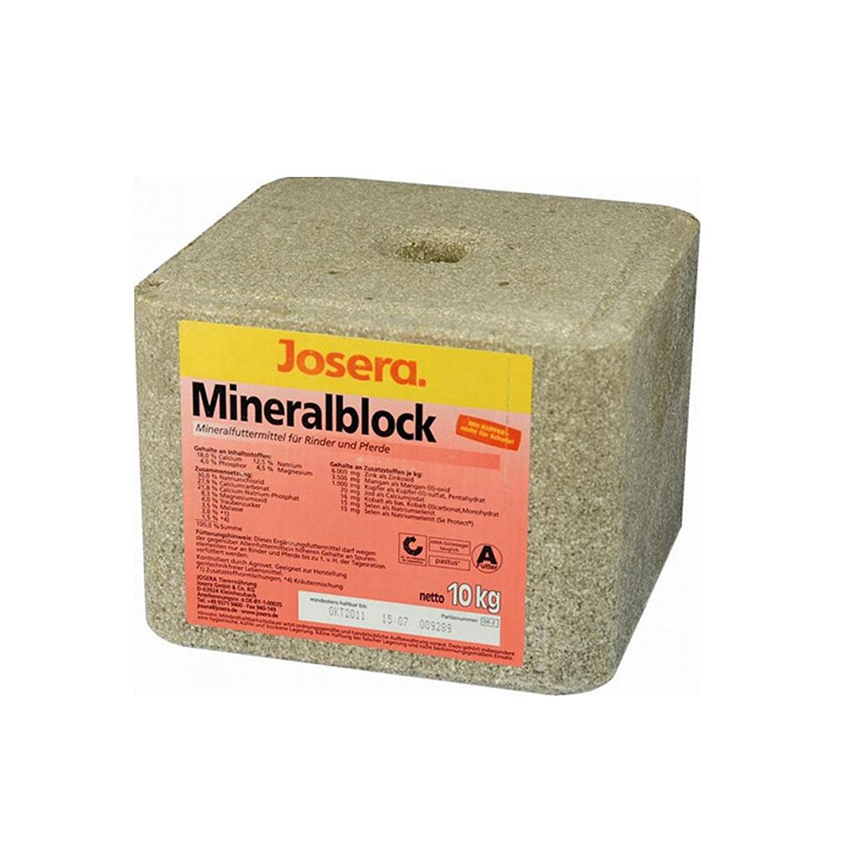 josera mineralblock 10kg g nstig kaufen bei zooroyal. Black Bedroom Furniture Sets. Home Design Ideas