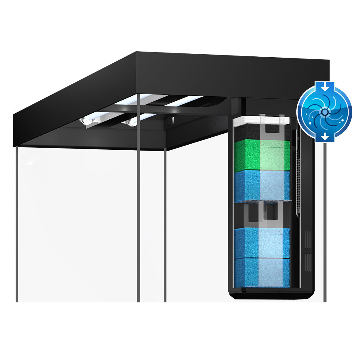 juwel rio 180 led komplett aquarium ohne schrank bei zooroyal. Black Bedroom Furniture Sets. Home Design Ideas