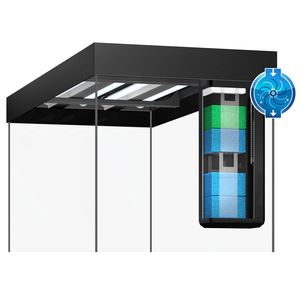 juwel rio 350 led komplett aquarium ohne schrank bei zooroyal. Black Bedroom Furniture Sets. Home Design Ideas