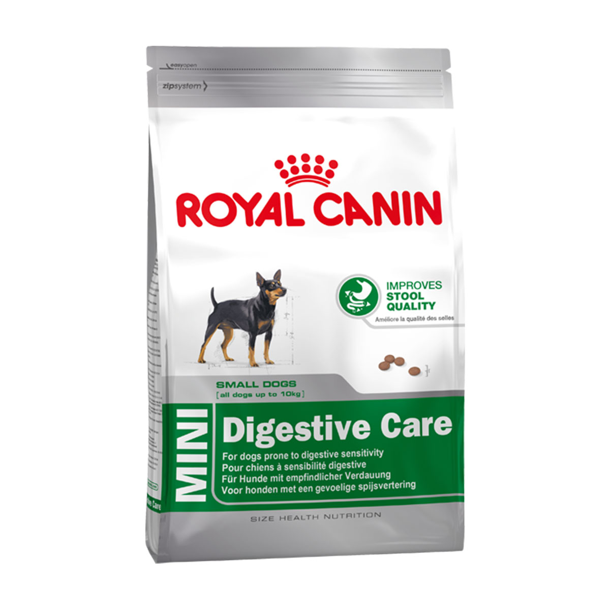royal canin hundefutter mini digestive care kaufen bei zooroyal. Black Bedroom Furniture Sets. Home Design Ideas