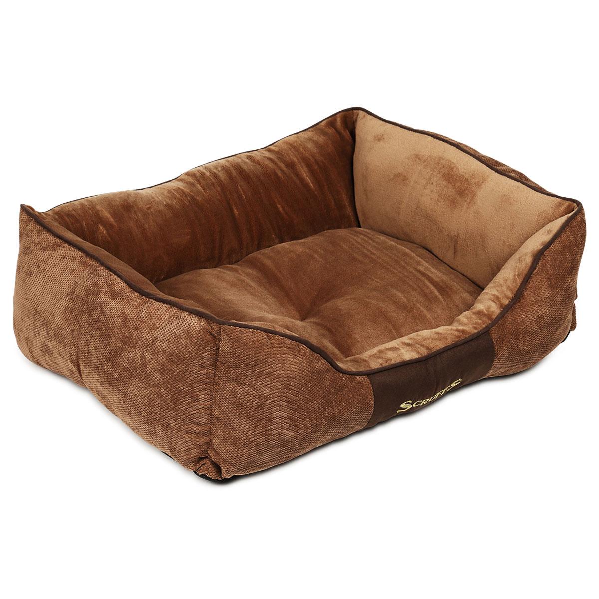 Scruffs Hundebett Chester Box Bed Braun L