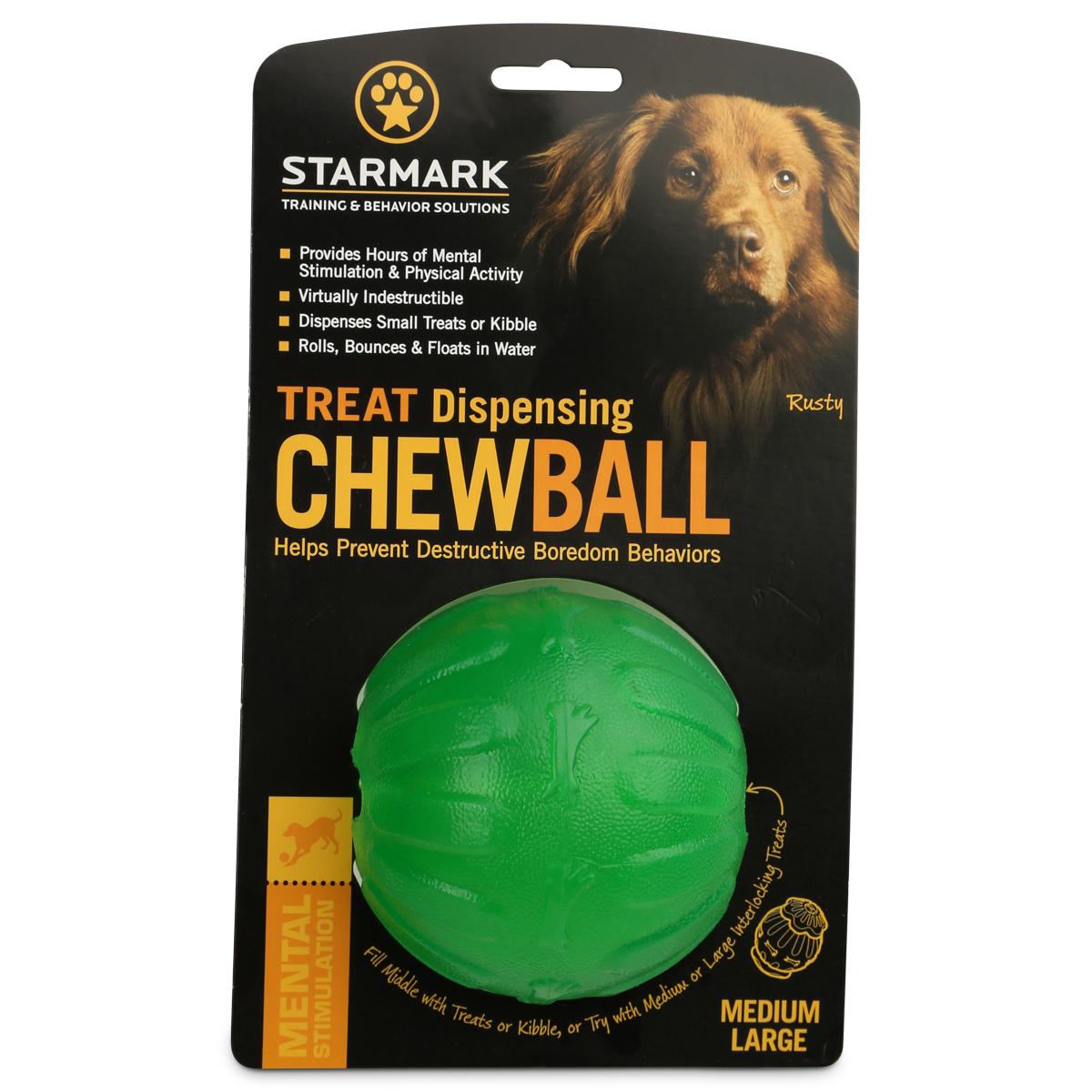 Starmark Hundespielzeug Treat Dispensing Chew Ball M/L