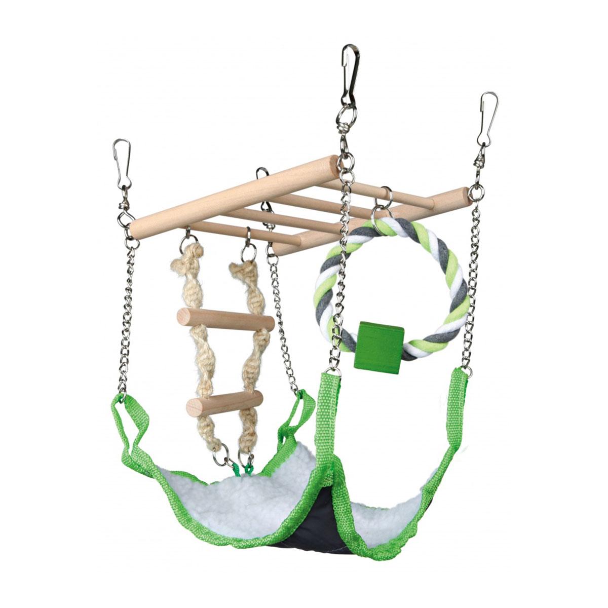 trixie h ngebr cke mit h ngematte g nstig kaufen bei zooroyal. Black Bedroom Furniture Sets. Home Design Ideas
