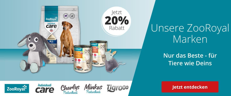 ZooRoyal exklusive Marken mit 20% Rabatt