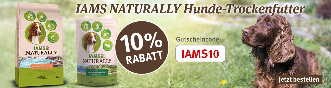 IAMS Naturally 10% Rabatt
