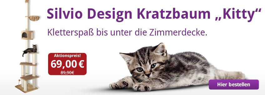 """Aus der Werbung: Kratzbaum """"Kitty"""" für nur 69,00€."""