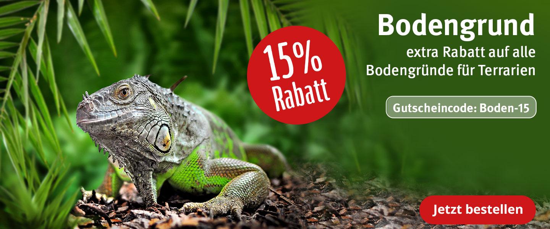 15% Rabatt auf Bodengrund