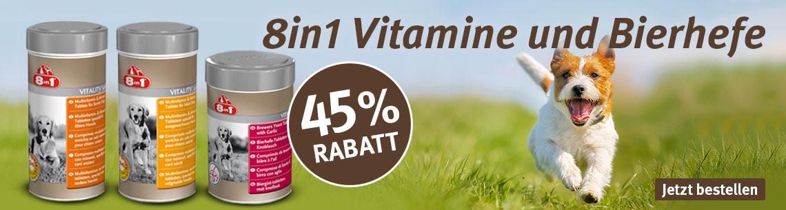 8in1 Vitamintabletten & Bierhefe zum Aktionspreis