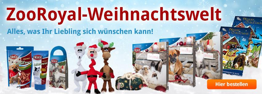 Große ZooRoyal-Weihnachtswelt! Mit Allem, was Ihr Liebling sich wünschen kann.