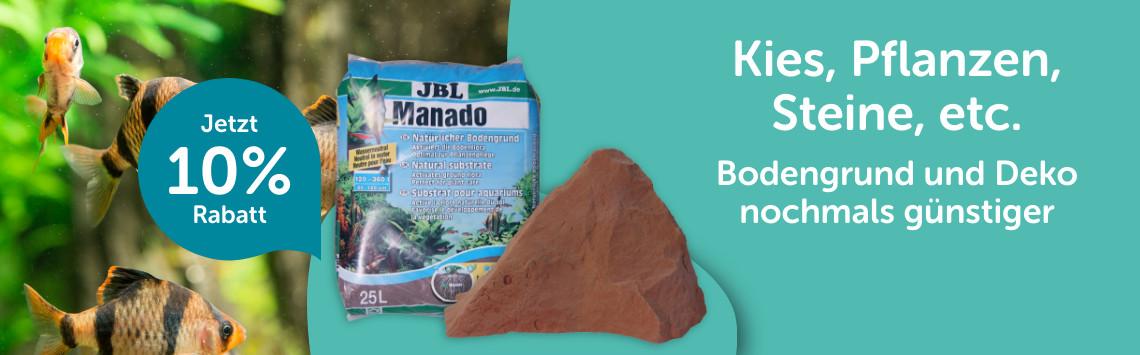 Bodengrund und Deko für dein Aquarium mit 10% Rabatt