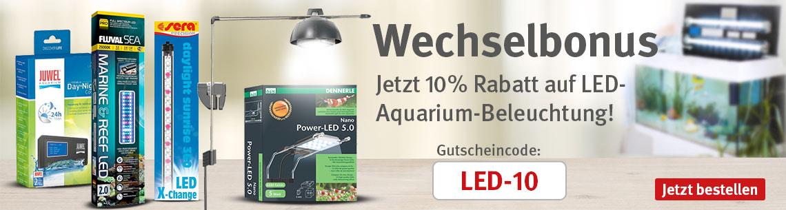 10% Rabatt auf Aquarium LED Leuchtmittel