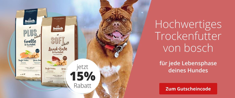 Bosch Trockenfutter mit 15% Rabatt