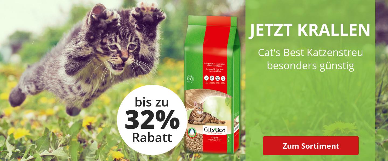 Bis zu 32% Rabatt auf Cat's Best Katzenstreu