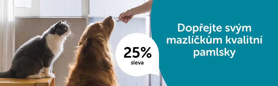 Pamlsky pro psy a kočky -25%