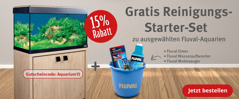 15% Rabatt und ein Gratis Starter-Set zu Fluval Aquarien