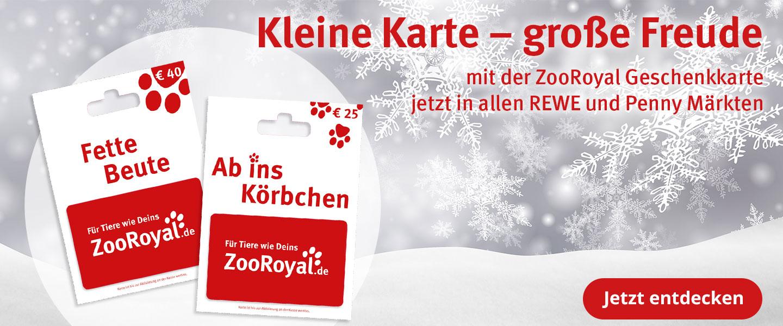 die neuen ZooRoyal Geschenkkarten - jetzt in vielen REWE und Penny Märkten