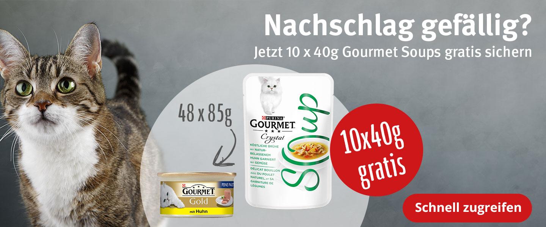 GOURMET Gold 48x85g + Gourmet Soups 10x40g Gratis