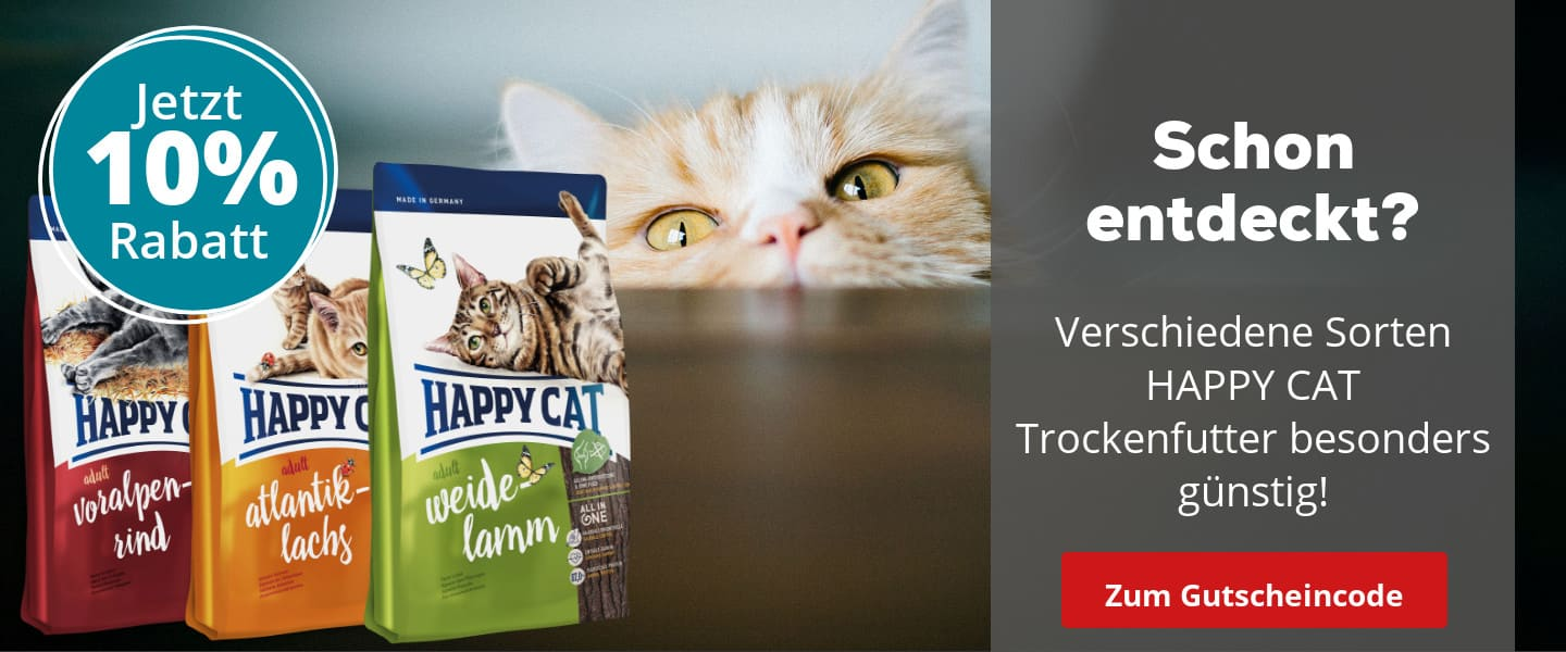 Happy Cat mit 10% Rabatt