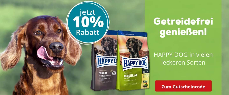 Happy Dog getreidefrei mit 10% Rabatt