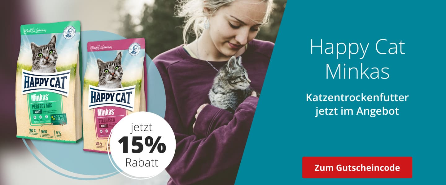 Happy Cat mit 15% Rabatt