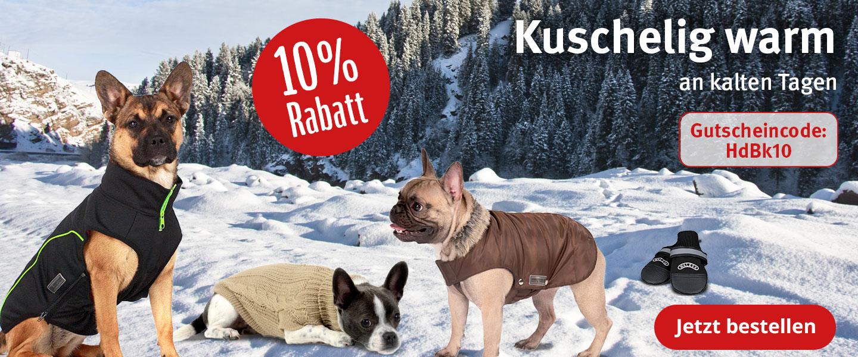 10% auf Hundebekleidung