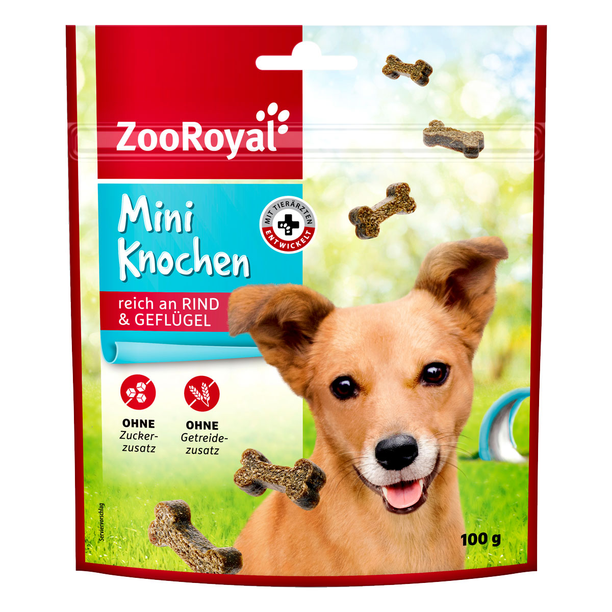 zooroyal hundesnack mini knochen mit rind gefl gel 100g. Black Bedroom Furniture Sets. Home Design Ideas