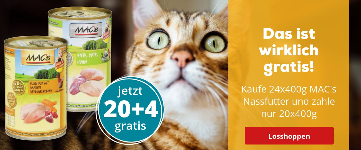 3267 Pro Pet Mac´s 400g Nassfutter 20+4 Gratis