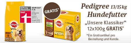 Pedigree Nassfutter gratis