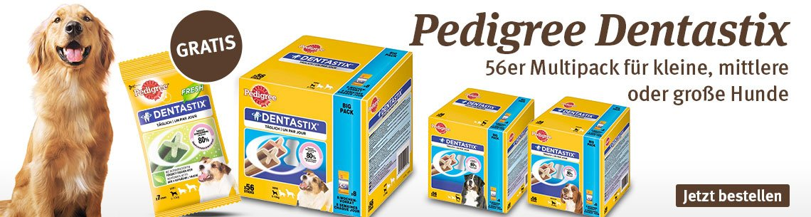 Pedigree DentaStix 56+7 gratis