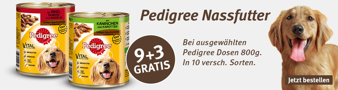 Pedigree 9+3 gratis