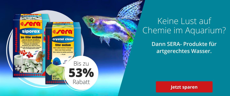 Sera Produkte für Artgerechtes Aquariumwasser