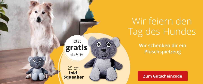 Gratis Plüschspielzeug zum Tag des Hundes ab 59€