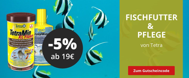 5% Rabatt ab 19€ auf Tetra